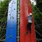 Bild eines Teilnehmenden an unserem Kletterturm